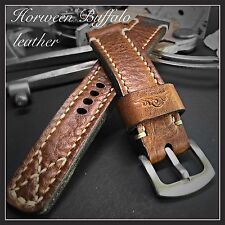 Müller&Son Genuine Horween Buffalo Leather Watch Strap 22 mm Custom Made in USA