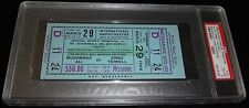 MUHAMMAD ALI CASSIUS CLAY VS ERNIE TERRELL 1966 FULL TICKET CANCELLED FIGHT PSA
