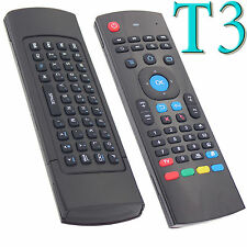 2.4G Wireless RC T3 Remote Control Keyboard Air Mouse USB for TV BOX Mini PC