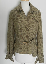 Apple Bottoms Jacket Insulated Double Breasted Brown Size M (fits S) Belted