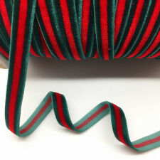 """New  5Yard 3/8"""" 10mm Velvet Ribbon Clips Crafts Sew Clips Bow Decoration #01"""
