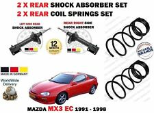 FOR MAZDA MX3 1.6 1.8 1991-1997 2X REAR SHOCK ABSORBER SET + 2X COIL SPRINGS KIT