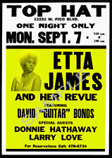 Soul/Jazz-Lovingly Restored 'ETTA JAMES' Vintage Concert Poster