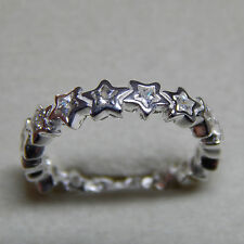 New Authentic Pandora 190974CZ Starshine Clear CZ Ring Size (6) 52  Box Included