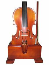 "Viola 15""-16.5""  and Bow Wooden Holder (Stand), Plush Velvet, Stronghold"