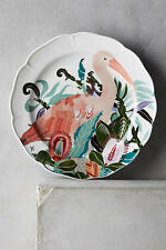 NIP Anthropologie SHELLY HESSE Paradise Found Side Plate Bird Floral Stoneware
