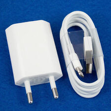 EU Euro European Wall Charger +8 Pin to USB Data Cable for iPhone 5 5C 5S 6 New