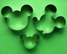 Mickey Mouse Side Face Fondant Baking Biscuit Cookie Cutter Metal Mold Set 3pcs