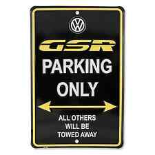 OFFICIAL VW VOLKSWAGEN BEETLE VW GSR PARKING ONLY EMBOSSED 3D TIN/METAL SIGN