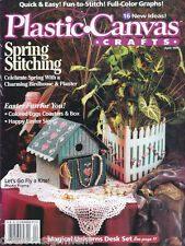 Plastic Canvas Crafts Magazine Apr 1997 ~ Colored Egg Coasters ~ Easter Crafts
