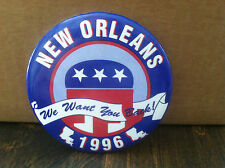 "34 Republican Party 2000 ""we want you back"" campaign buttons for the convention"