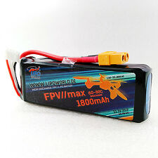 Lipo World FPV MAX Akku 3S 11,1V 1800mAh 60C-80C Race Quadrocopter Multirotor
