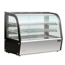 GC875-A. HEATED GLASS DISPLAY CABINET. CURVED FRONT GLASS