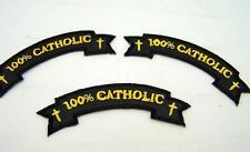 Lot Of 3 Embroidered 100% Catholic Iron On Applique Patch