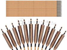 12PK 35'' Japan TRADITIONAL GRAY FEATHERS SELF NOCK BAMBOO ARROWS FOR YUMI
