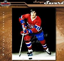 SERGE SAVARD Signed & Inscribed Montreal Canadiens 8 x 10 Photo - 70406