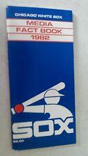 Vintage Baseball 1982 CHICAGO WHITE SOX Media Guide Rare MLB
