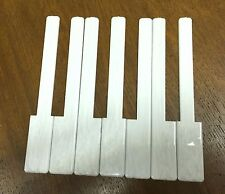 Piano Keytops 1 Octave Simulated Ivory Glossy Grained White Key Tops