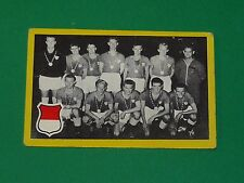 RARE CARTE FOOTBALL 9 X 6 CM 1960-1961 EQUIPE NATIONALE DANEMARK Danish Dynamite