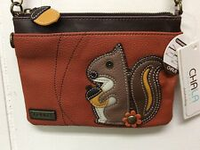 Chala Squirrel Mini Crossbody Bag Small Convertible Purse Orange New