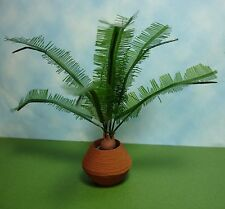 Dollhouse Miniature Sago Palm Tree in Clay Pot Doll House Furniture