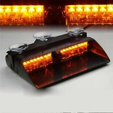18 LED Amber Waterproof Emergency Vehicle Strobe Flash Lights Front Grille Truck