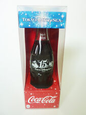 COCA COLA 2016 DISNEY SEA JAPAN 15 YEAR ANNIVERSARY GLASS SODA BOTTLE *BRAND NEW
