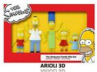 THE SIMPSONS FAMILY MINI SET BENDABLE FIGURE COLLECTABLE HOMER MARGE BART NEW