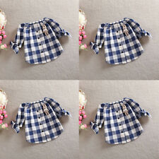 Baby Kids Girls Tops Blouse T-shirt Half Sleeve Blue OP Neck SZ Only 2-3Y Baby