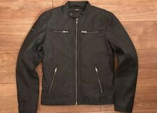 Superdry Classic Real Hero Biker Leather Jacket Mens M New With Tags Cost £200