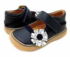 Livie & Luca Measure tape Mili navy mary jane leather shoes EUC size 6 Toddler