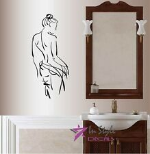 Vinyl Decal Nude Sexy Woman Modeling Girl Bathroom Spa Salon Wall Sticker 216