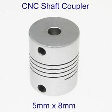CNC Motor Jaw Shaft Flexible 5mm To 8mm Coupler 5x8mm Coupling OD 20x25mm
