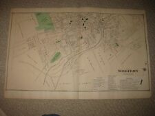 ANTIQUE 1875 MIDDLETOWN ORANGE COUNTY NEW YORK HANDCOLORED MAP HORSE RACE TRACK