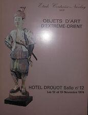 1974 CATALOGUE illustré VENTE DROUOT OBJETS D'ART D'EXTREME ORIENT