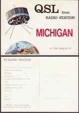 Space. Michigan Radio QSL Card. Satellite. Germany