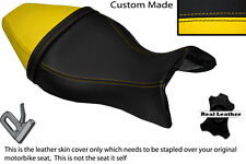 BLACK & YELLOW CUSTOM FITS BUELL X1 LIGHTNING 1200 98-02 DUAL SEAT COVER