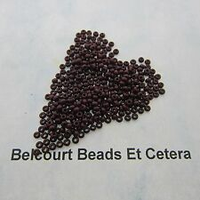 25 Grams Dark Brown Opaque Size 10/0 Czech Glass Preciosa Seed Beads