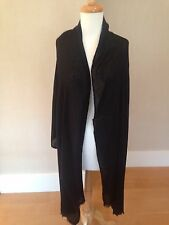 "CASHMERE Fine Wool BLACK Long Scarf Shawl Wrap 82x28"" NWT"