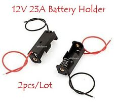 2pcs Battery Holder Storage Case Slot for 12V 23A with both wire leads