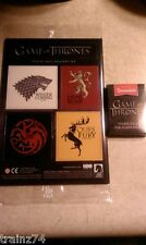 Game Of Thrones 4 Magnet Set and 4GB USB Drive, Loot Crate HBO