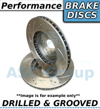 2x (Pair) Uprated Performance Drilled and Grooved Front Brake Discs - 321mm