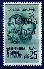 ISTRIA ( POLA ) 1945 - F.lli BANDIERA  Cent. 50  su 25  Nuovo **