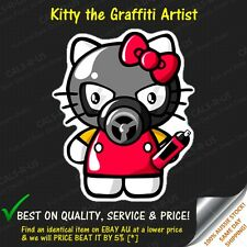 Hello Kitty Graffiti Artist Mask Luggage Car Skateboard Guitar Sticker Decal L2