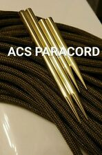"(2) 2"" AND (2) 3""  PARACORD 550 FID, LACING, STITCHING  NEEDLES , SOLID BRASS"