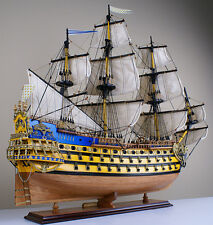 "Solei Royal 32"" wood ship model sailing tall French boat"
