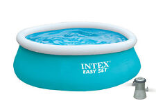 "Intex 6' x 20"" Easy Set Inflatable Swimming Pool with 330 GHP Filter Pump"