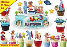 In the Night Garden Cup Cake, escena Toppers Fiesta De Cumpleaños Oblea Comestibles Stand Up