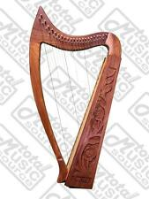 "DMT 36"" Harp, Celtic Irish Style Rosewood Engraved 22 String, Bag/EXTRA Strings,"