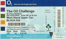 1st MATCH AVIVA STADIUM Ulster/Leinster v Munster/Connacht U20 2010 RUGBY TICKET